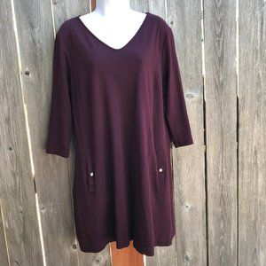 New York & Co. XL Purple Dress